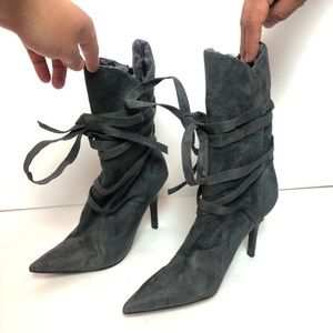 "Anne Michelle | 4"" Heel Furry Tall Boots"